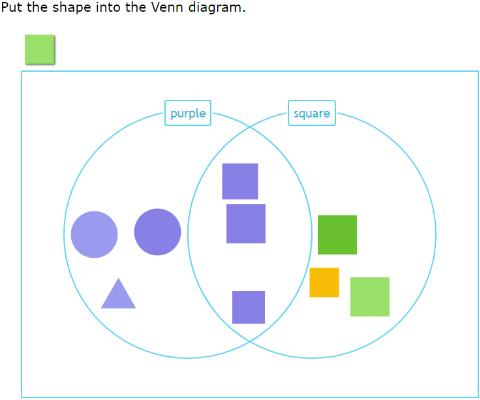 IXL  Sort shapes into a Venn    diagram        Year       1    maths practice